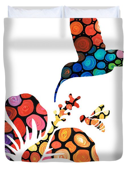 Perfect Harmony - Nature's Sharing Art Duvet Cover by Sharon Cummings