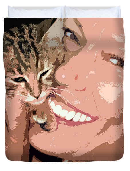 Perfect Smile Duvet Cover by Stelios Kleanthous