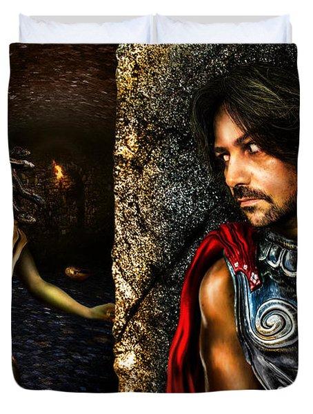 Perseus And Medusa Duvet Cover by Alessandro Della Pietra