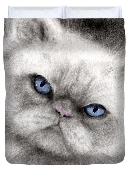 Persian Cat With Blue Eyes Duvet Cover by Svetlana Novikova