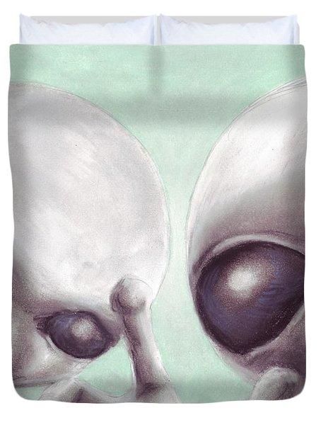 Personal Space Invaders Duvet Cover by Samantha Geernaert