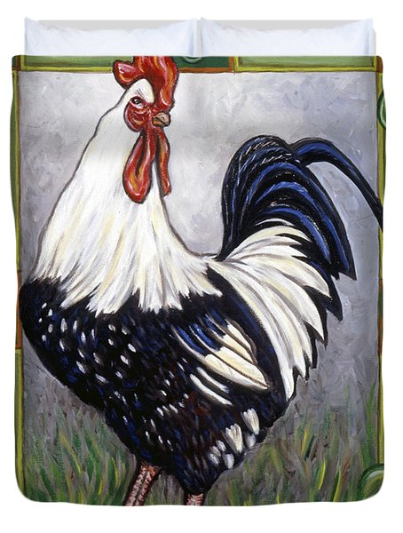 Pete The Rooster Duvet Cover by Linda Mears
