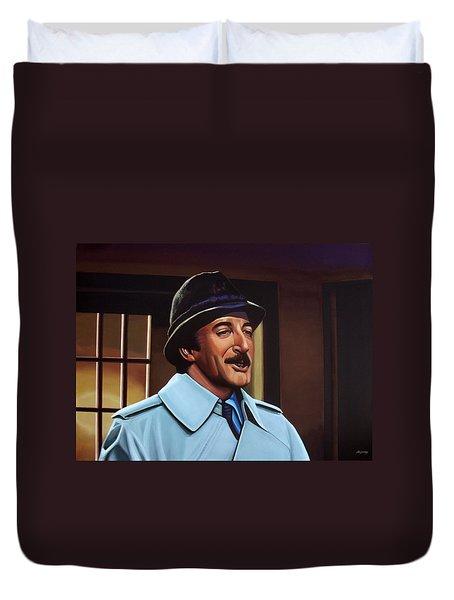 Peter Sellers As Inspector Clouseau  Duvet Cover by Paul Meijering