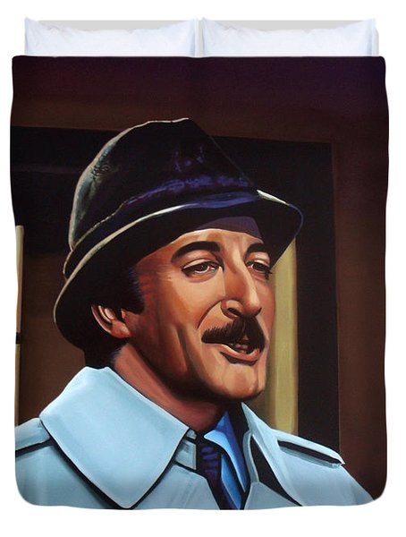 Peter Sellers as inspector Clouseau  Duvet Cover by Paul Meijering