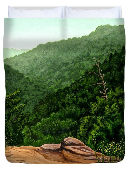 Petit Jean Mountains Duvet Cover by Dustin Miller