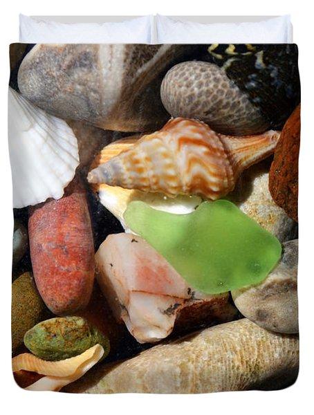 Petoskey Stones l Duvet Cover by Michelle Calkins