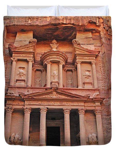Petra Treasury Duvet Cover by Tony Beck