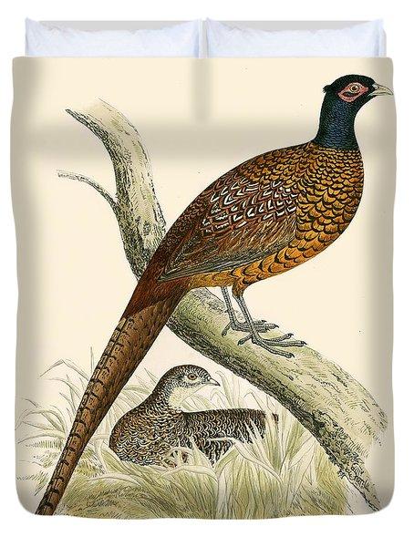 Pheasant Duvet Cover by Beverley R Morris