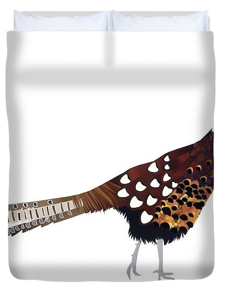 Pheasant Duvet Cover by Isobel Barber