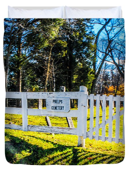Phelps Cemetery  Duvet Cover by Mary Carol Story
