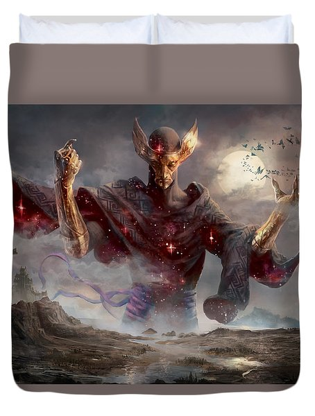 Phenax God Of Deception Duvet Cover by Ryan Barger