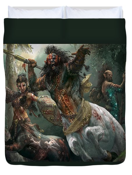 Pheres-band Raiders Duvet Cover by Ryan Barger
