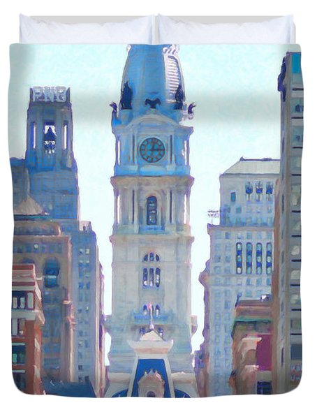 Philadelphia City Hall 20130703 Duvet Cover by Wingsdomain Art and Photography
