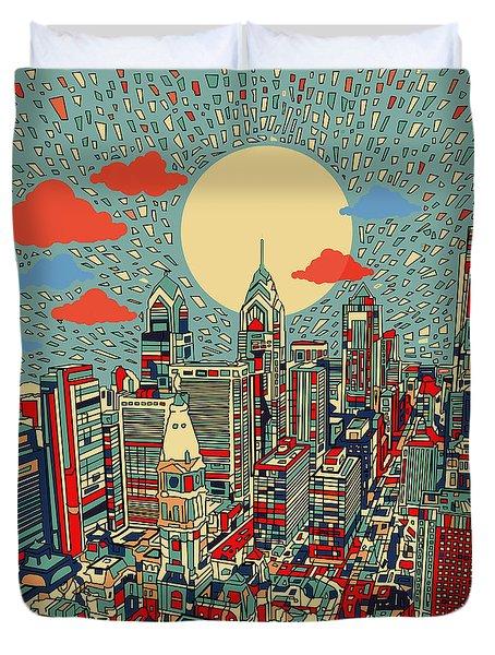 Philadelphia Dream 2 Duvet Cover by Bekim Art