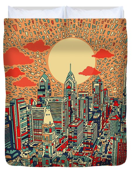 Philadelphia Dream Duvet Cover by Bekim Art