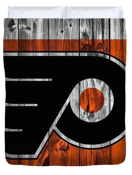 Philadelphia Flyers Barn Door Duvet Cover by Dan Sproul
