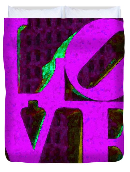 Philadelphia LOVE - Painterly v2 Duvet Cover by Wingsdomain Art and Photography