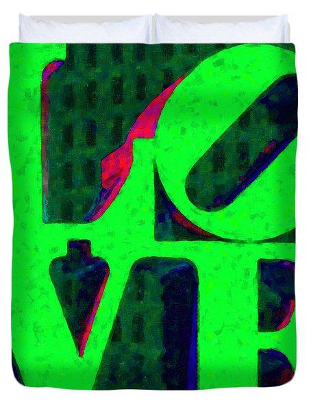 Philadelphia LOVE - Painterly v3 Duvet Cover by Wingsdomain Art and Photography