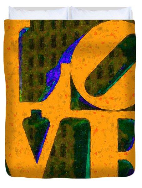 Philadelphia Love - Painterly V4 Duvet Cover by Wingsdomain Art and Photography