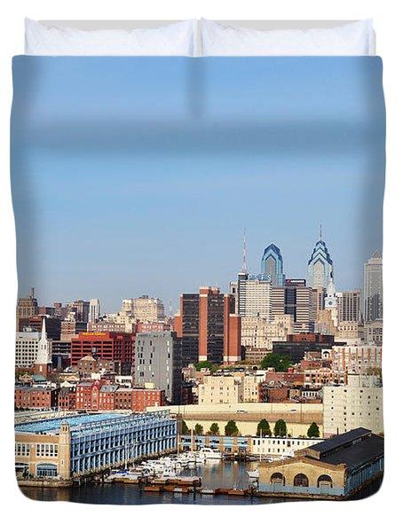 Philadelphia River View Duvet Cover by Bill Cannon