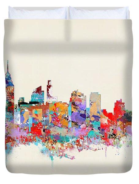 Philadelphia Skyline Duvet Cover by Bri B