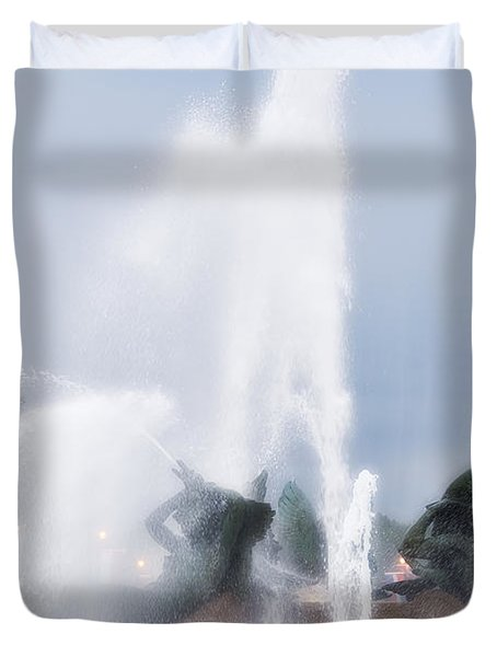 Philadelphia - Swann Memorial Fountain Duvet Cover by Bill Cannon