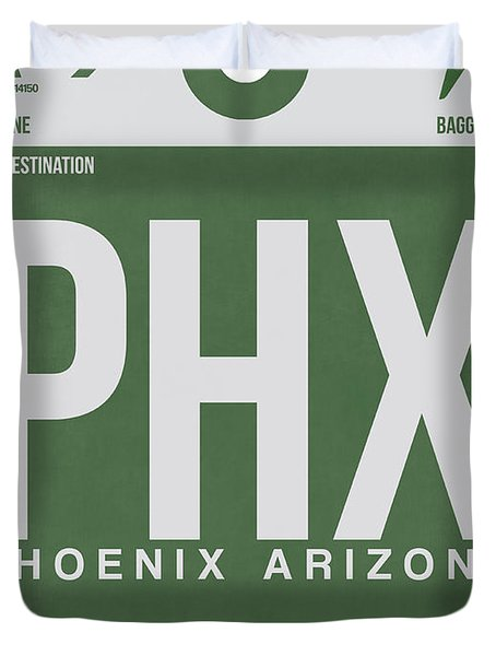 Phoenix Airport Poster 2 Duvet Cover by Naxart Studio