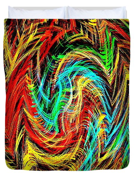 PHONE CASE ART BOLD AND COLORFUL ABSTRACT GEOMETRIC TEXTURES DESIGNS BY CAROLE SPANDAU 128 CBS ART  Duvet Cover by CAROLE SPANDAU