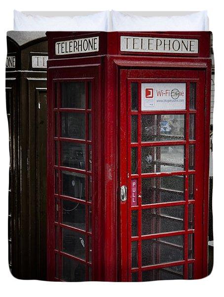 Phone Home Duvet Cover by Erik Brede