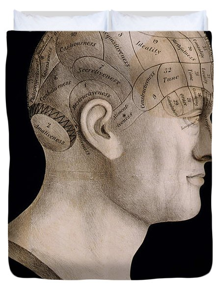 Phrenology Duvet Cover by Nomad Art And  Design
