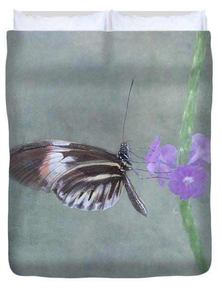 Piano Key Butterfly Duvet Cover by Kim Hojnacki