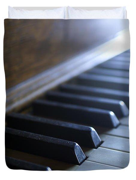 Piano Keys Duvet Cover by Jon Neidert