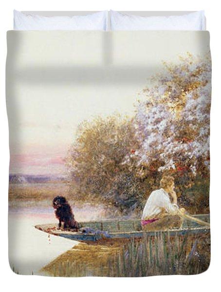 Picking Blossoms Duvet Cover by Thomas James Lloyd