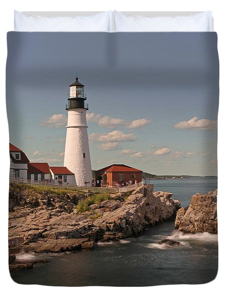 Picturesque Portland Head Light Duvet Cover by Juergen Roth