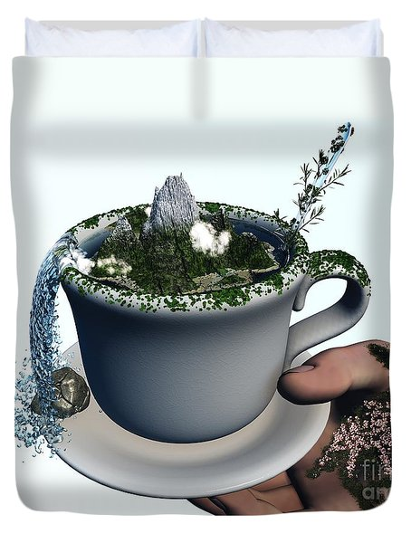 Piece Of Nature Cup Duvet Cover by Eric Nagel