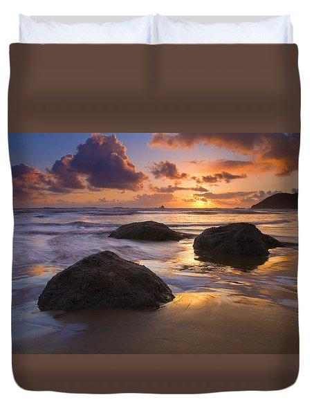 Pieces of Eight Duvet Cover by Mike  Dawson