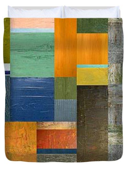 Pieces Parts V Duvet Cover by Michelle Calkins