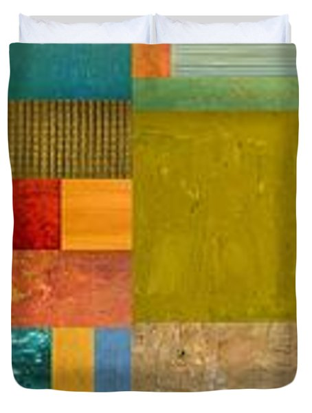 Pieces Project Lv Duvet Cover by Michelle Calkins