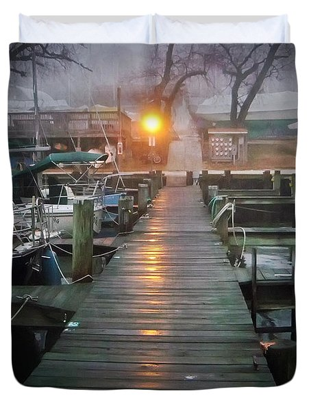 Pier Light Duvet Cover by Brian Wallace
