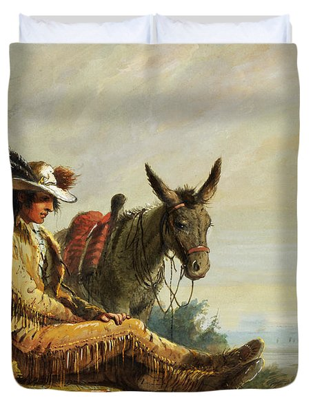 Pierre Duvet Cover by Alfred Jacob Miller
