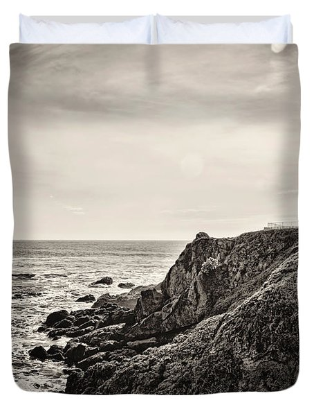 Pigeon Point Light Duvet Cover by Heather Applegate