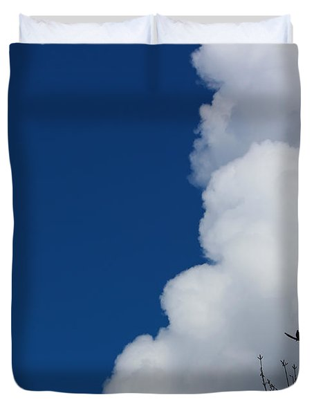 Pigeons Follow Clouds Duvet Cover by Kym Backland