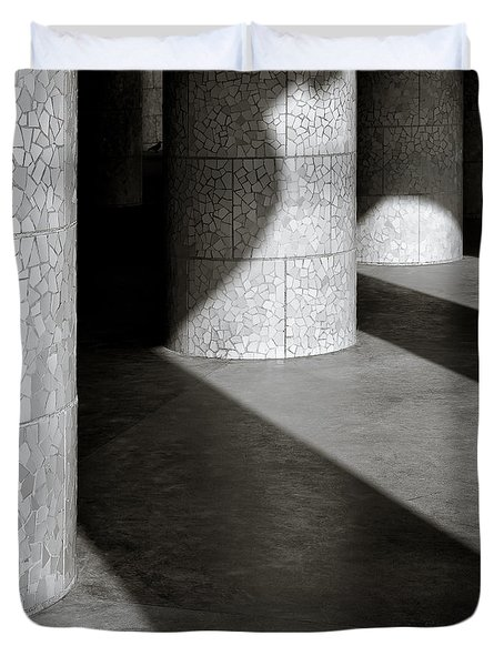 Pillars And Shadow Duvet Cover by Dave Bowman