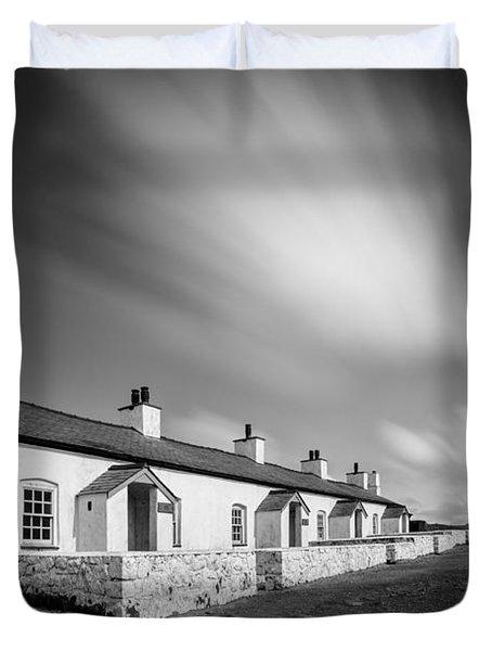 Pilot Cottages Duvet Cover by Dave Bowman