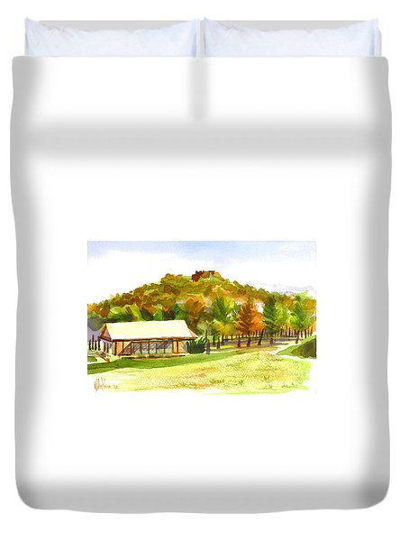 Pilot Knob Mountain 2 Duvet Cover by Kip DeVore