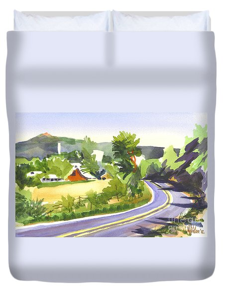 Pilot Knob Mountain Out Jj Duvet Cover by Kip DeVore