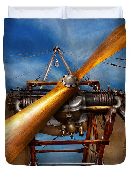 Pilot - Prop - They don't build them like this anymore Duvet Cover by Mike Savad