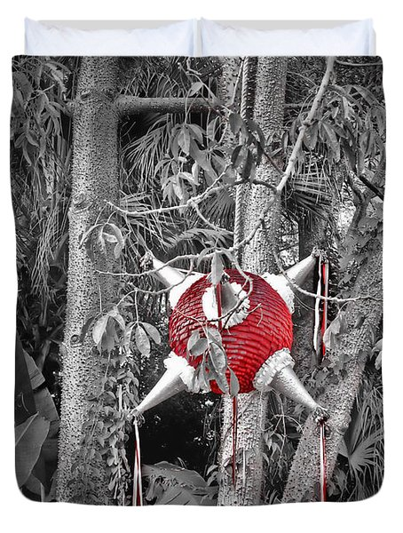 Pinata In Woods Duvet Cover by Joan  Minchak