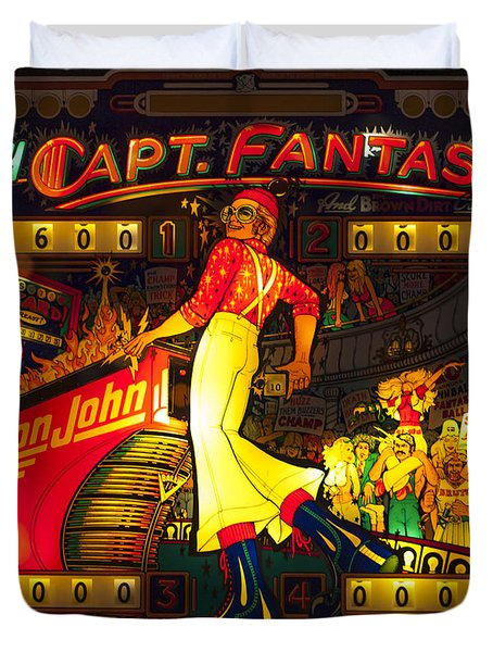 Pinball Machine Capt. Fantastic Duvet Cover by Terry DeLuco