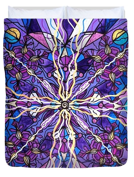 Pineal Opening Duvet Cover by Teal Eye  Print Store